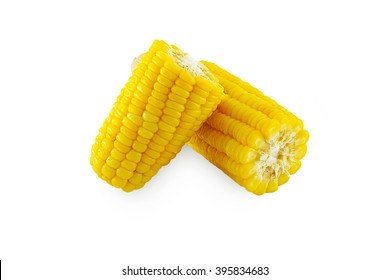 corn boiled on isolated background