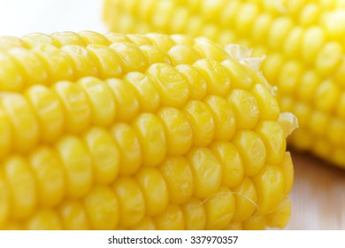 Corn cob - close-up view - macro view