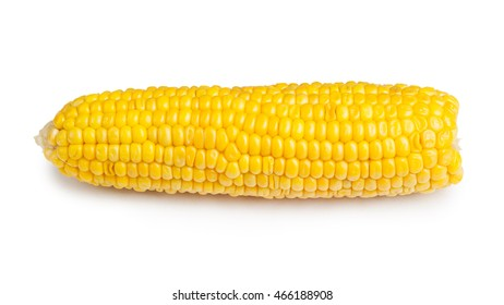 Corn cob isolated on white background