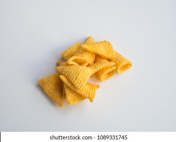 Corn cones on white background