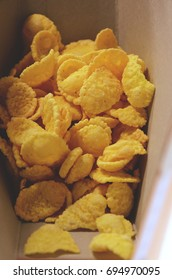 Corn flakes in a box. Cover