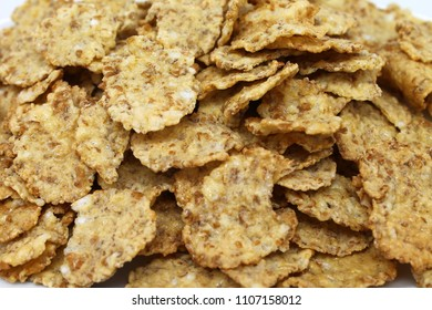 Corn Flakes Healthy Breakfast on isolated white background