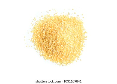 Corn grits isolated on white background