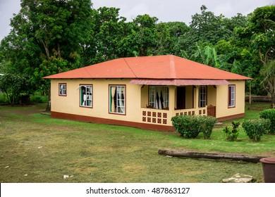 Corn Island, Nicaragua - August 17, 2016: House from Corn Island, Nicaragua. Travel general imagery