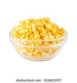 Corn isolated on the white background