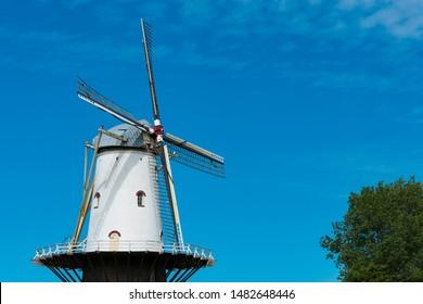 Corn mill called De Koe. Veere, The Netherlands