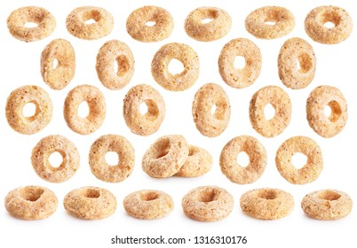 Corn rings isolated on white background. With clipping path.
