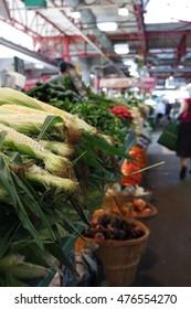 Corn for sale at Jean Talon market in Montreal