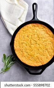 Cornbread in Cast Iron Pan