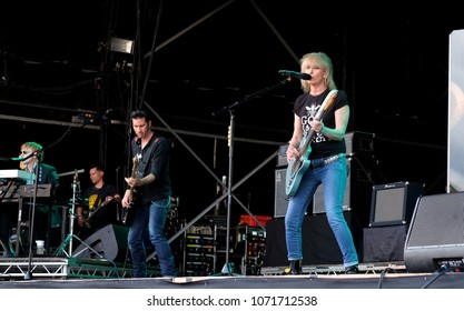 Cornbury Festival - July 10th 2017:  The Pretenders performing at Cornbury Festival, Great Tew, Chipping Norton, Oxfordshire, July 10, 2017 in Oxfordshire, UK
