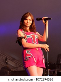 Cornbury Festival - July 7th 2017: Sophie Ellis Bexor performing at Cornbury Festival, Great Tew, Chipping Norton, Oxfordshire, July 7, 2017 in Oxfordshire, UK