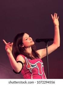 Cornbury Festival - July 7th 2017: Sophie Ellis Bexor performing at Cornbury Festival, Great Tew, Chipping Norton, Oxfordshire, July 7, 2017 in Oxfordshire, UK