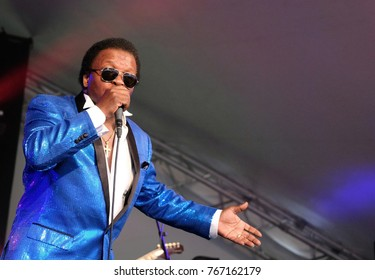 Cornbury Festival - July 7th 2017:  Lee Fields and the Expressions performing at Cornbury Festival, Great Tew Park, Chipping Norton, Oxfordshire, July 7, 2017 in Oxfordshire, UK