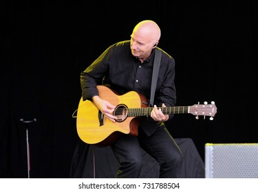 "Cornbury Festival - July 9th 2017:  Singer songwriter James ""Midge"" Ure formerly of Ultravox  performing at Cornbury Festival, Great Tew, Chipping Norton, Oxfordshire, July 9, 2017 in Oxfordshire, UK"