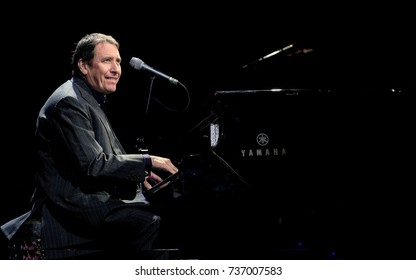 """Cornbury Festival - July 9th 2017: English pianist Julian """"Jools"""" Miles Holland OBE performing at Cornbury Festival, Great Tew, Chipping Norton, Oxfordshire, July 9, 2017 in Oxfordshire, UK"""