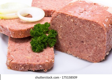 Corned Beef on a white plate