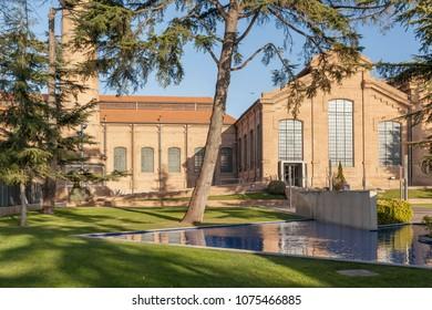 CORNELLA DE LLOBREGAT,SPAIN-JANUARY 13,2015:Industrial tourism in Cornella de Llobregat, water museum, museu agbar aigues, province Barcelona.Catalonia.