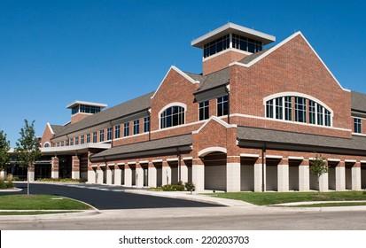 Corner Angle of Red Brick Building