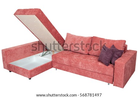 Corner Convertible Sofa Bed Storage Space Stock Photo Edit Now