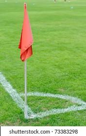 corner flag and soccer corner of a soccer field.