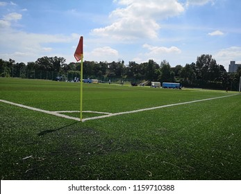 A corner of a football field