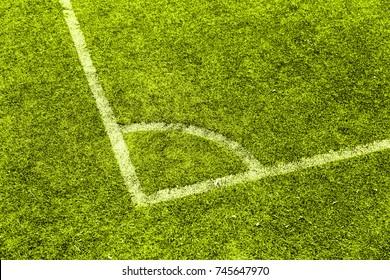 Corner of a football field, detail of a sport field