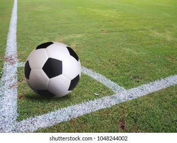 Corner of a football (soccer)