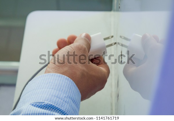 Corner Free Charge Appliance Property Charges Stock Photo