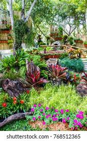 A corner of the garden in King Rama IX park,Bangkok,Thailand.