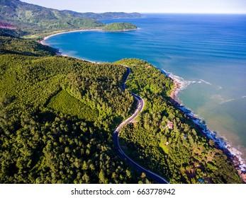 A corner of Hai Van Pass from above ,Danang,Vietnam