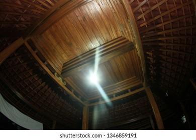 corner of joglo limasan building, traditional, traditional house, Java