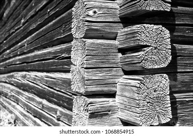 Corner joints of barn