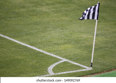 Corner mark and flag