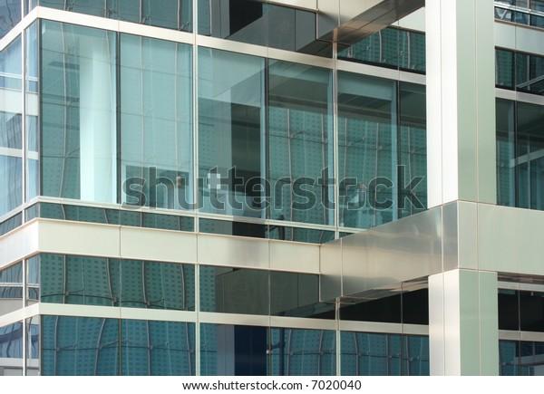 Corner of a modern corporate building