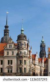 Corner of old Dresden on a sunny afternoon. Germany