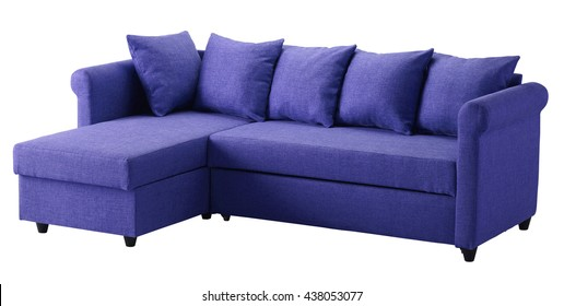 Corner sofa isolated on white background. Include clipping path