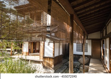 A corner at the veranda of a traditional Japanese house