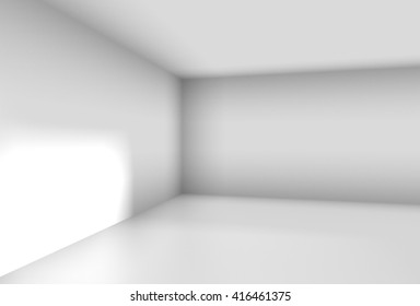 corner of a white room in a simple 3D Illustration