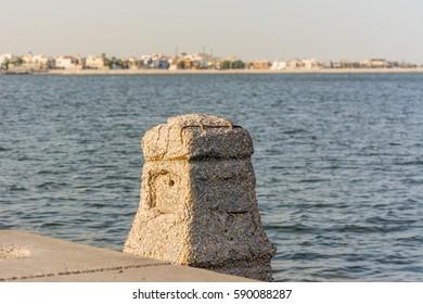 Corniche coastal park with background of sea in Dammam, Kingdom of Saudi Arabia