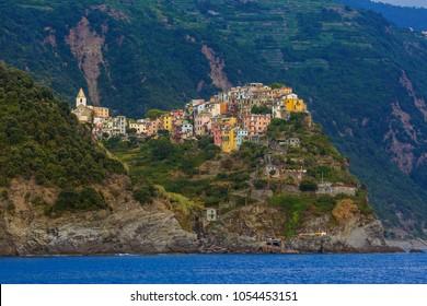 Corniglia in Cinque Terre - Italy - architecture background