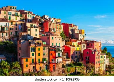 Corniglia is a small town in Cinque Terre national park, La Spezia province in Liguria Region, northern Italy