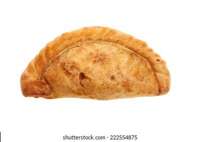 Cornish pasty isolated against white