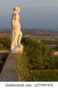 CORNO DI ROSAZZO, Italy - November 7, 2013: Neoclassic statue on the terrace of Rosazzo abbey