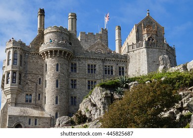 CORNWALL, ENGLAND - September 24, 2015 : Castle of St. Michael Month located near Marazion town in Cornwall, United Kingdom.