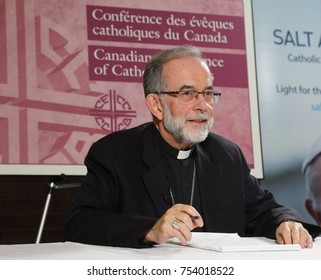 CORNWALL, ONTARIO -SEPTEMBER 26, 2016: Bishop Lionel Gendron is president of the Canadian Conference of Catholic Bishops.