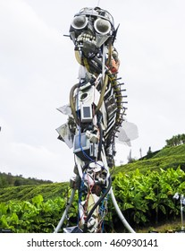CORNWALL, UK - CIRCA 2015: The Eden Project's WEEE Man