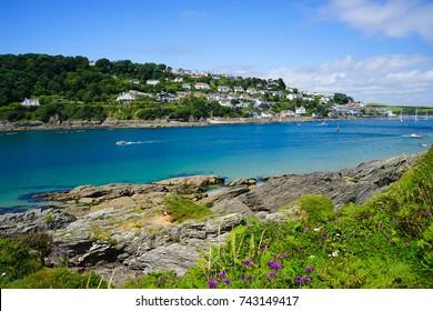 Cornwall, United Kingdom - 18 JULY 2017. Salcombe North Sands Beach