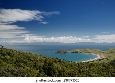 Coromandel Peninsula, view to the Great Barrier Island, New Zealand