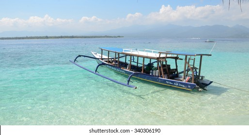 CORON, PHILIPPINES - FEBRUARY 07, 2014. Boats carrying tourists to travel between the islands. Philippines is one of the top tourist destinations in the world.