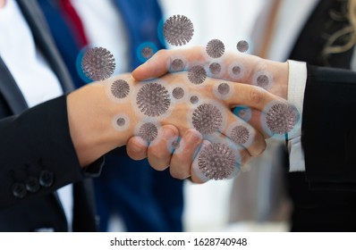Corona virus 2019,the most transmission of virus or bacterai from hand touch concept for background healthcare and medical - Shutterstock ID 1628740948